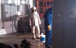 Man in Tyvek Suit