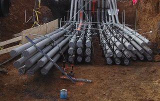 Underground PVC Pipes