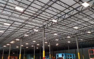Lights Hanging in Warehouse