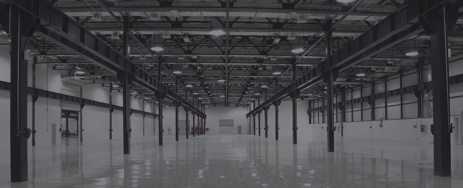 Empty Lit Warehouse